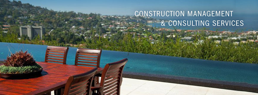 Construction Management & Consulting Services, patio with a view of the ocean.